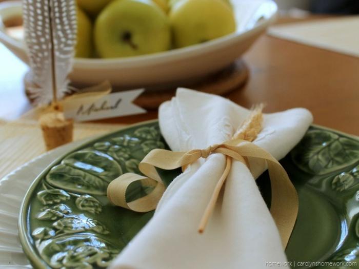 Etiquette marque place fête table décoration originale la déco de la table