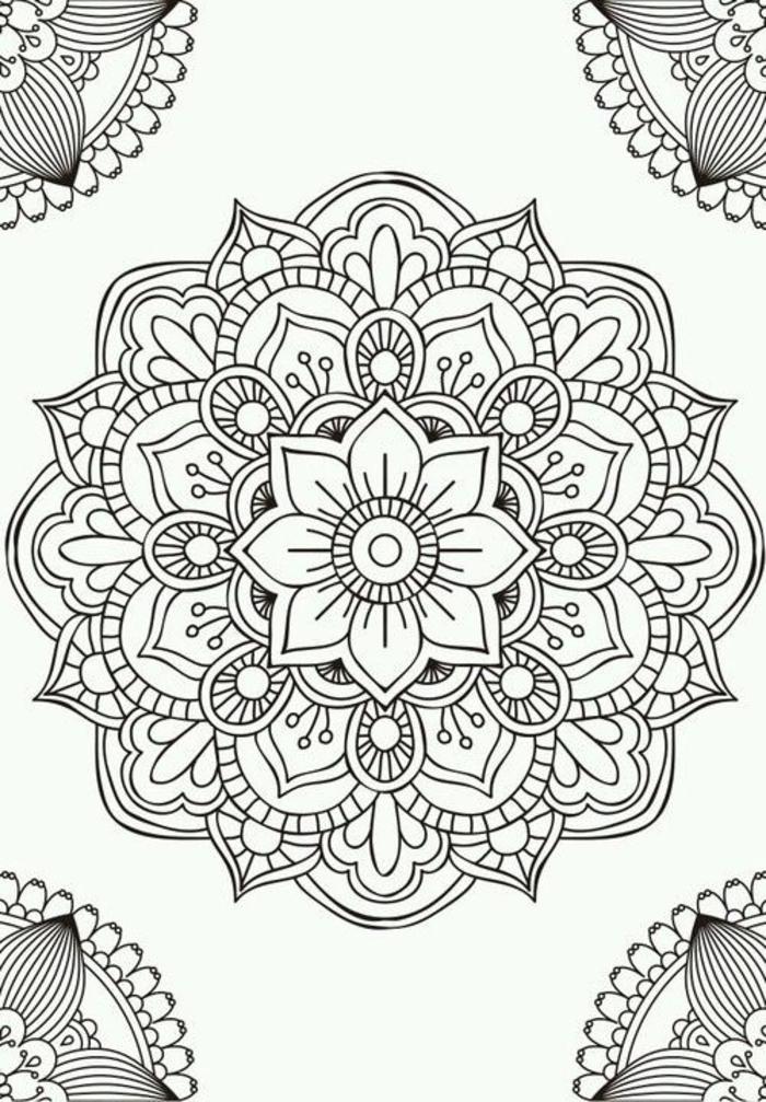 mandalas à imprimer au design en fleurs harmonieux pour un coloriage zen
