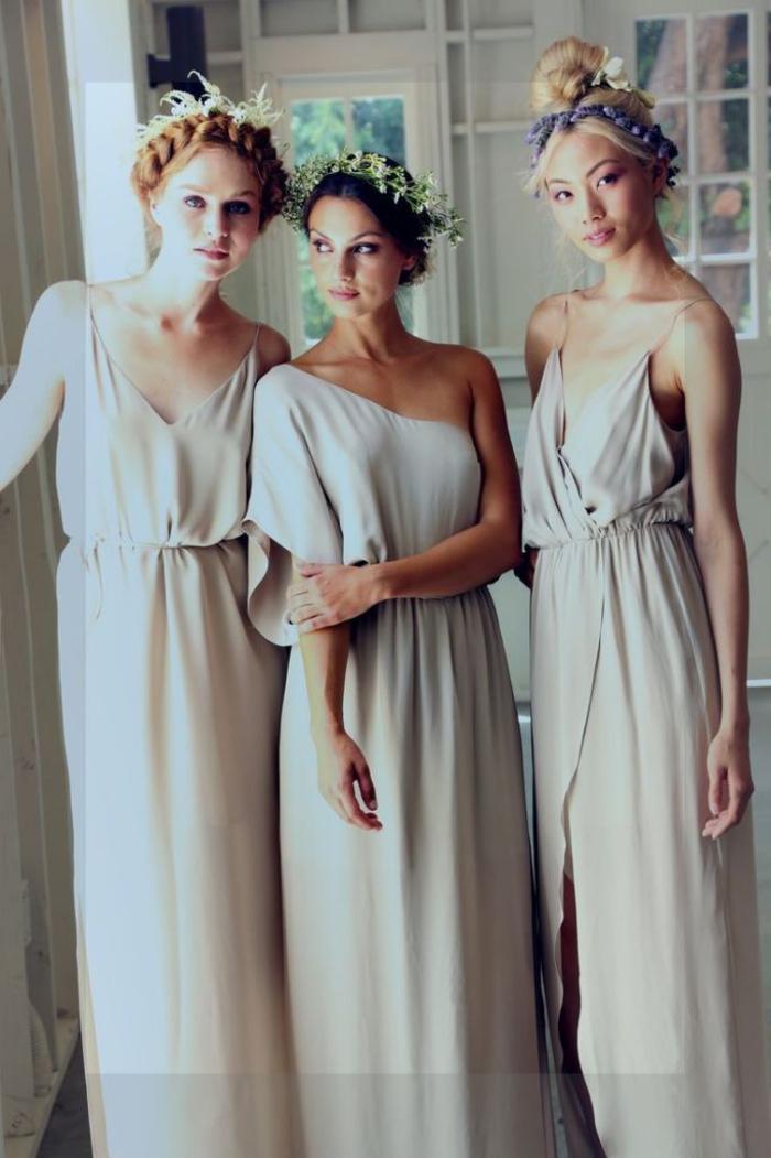 le modèle de robe demoiselle d'honneur boheme est flatteur pour toute morphologie