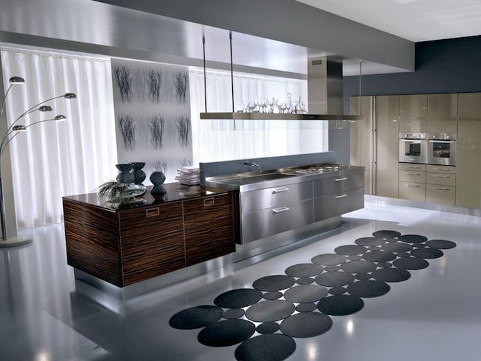 comment créer une ambiance zen dans la cuisine, aménagement de pièce en gris et beige