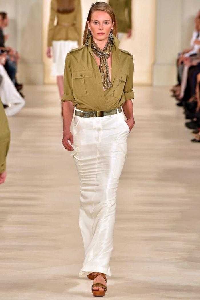 Chemise longue femme zara robe blouse robes chemisier mode jupe longue blanche et chemise saharienne