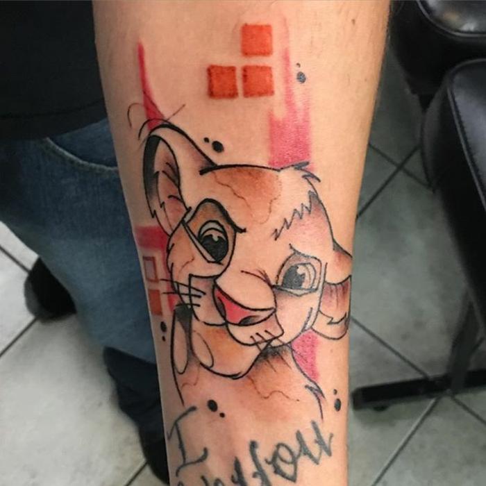 Tatouage de lion homme symbole lion le signe astrologique du lion tatou Simba