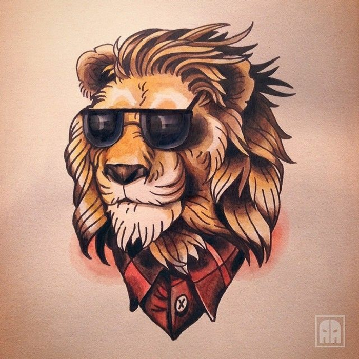 Dessin lion mandala tatouage tete de lion tatouage exemple tatou hipster lion