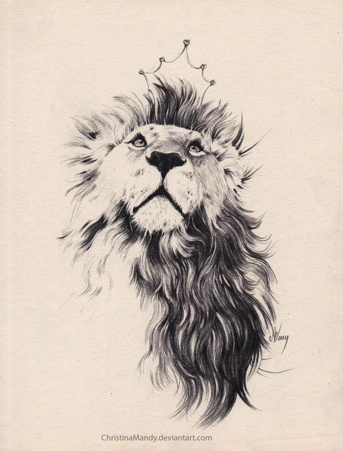 Motif tatouage lions pectoraux tatouage représentant la force