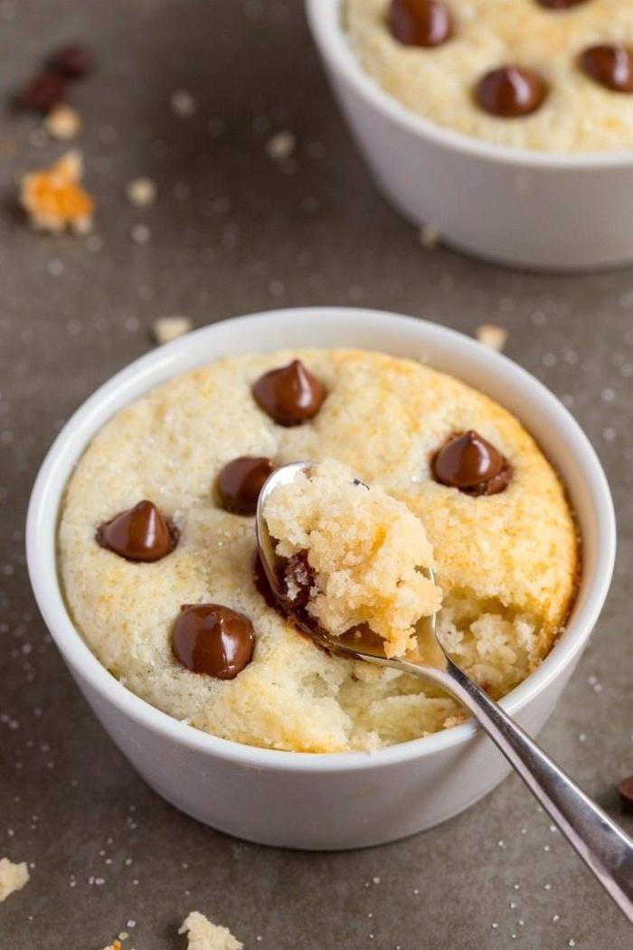 recette de mug cake vanille protéiné ultra moelleux, pauvre en glucides