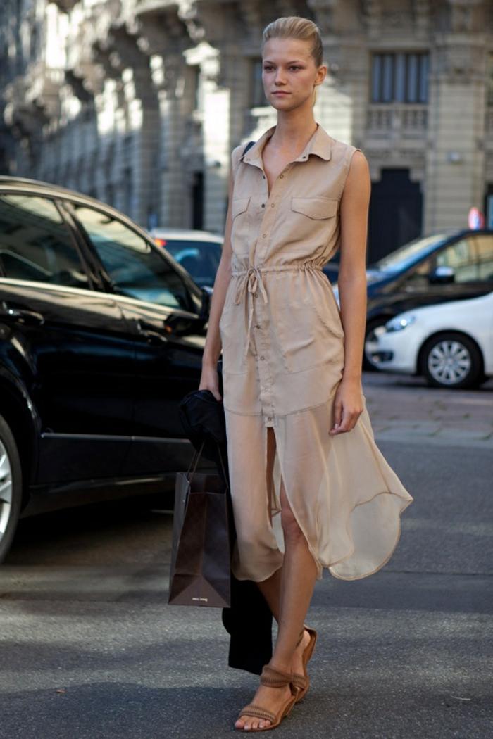 Une idée robe chemise kaki chemise robe femme robe liquette robe mi longue adorable
