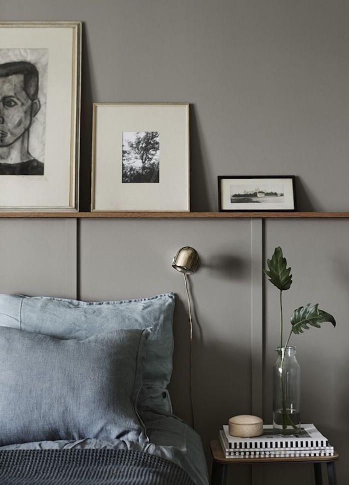 1001 id es chambre taupe creusez dans nos 57 id es d co for Peinture gris turquoise