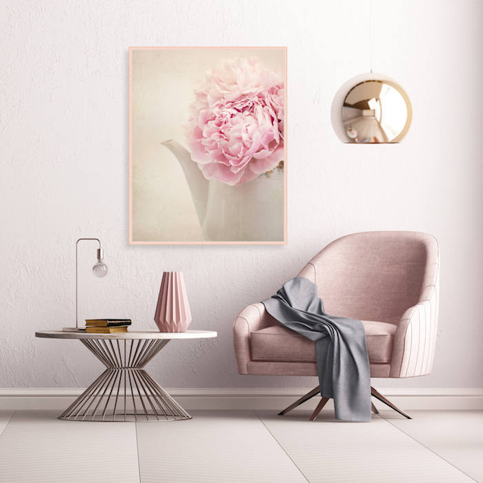 Deco Salon Rose Pale Blanc Gris : Deco rose pale et gris