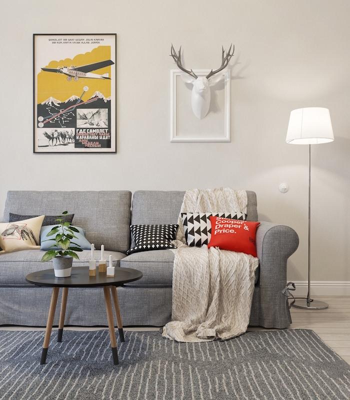 salon nordique minimalisme et chaleur venus du froid. Black Bedroom Furniture Sets. Home Design Ideas