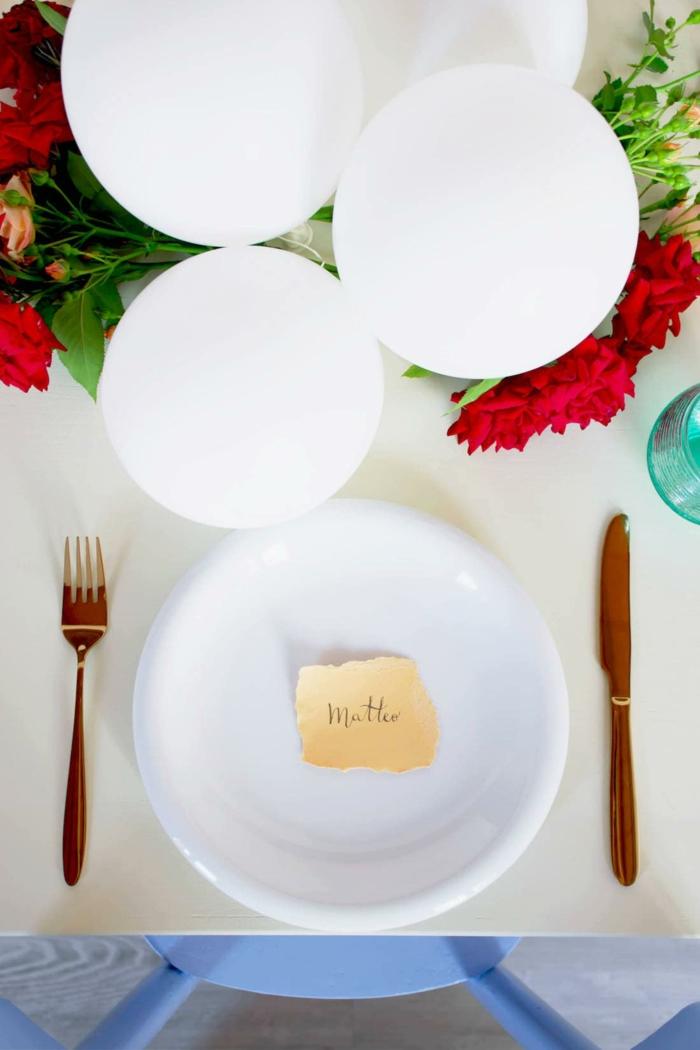 Superbe porte numéro de table mariage décoration de table idée simple rustique