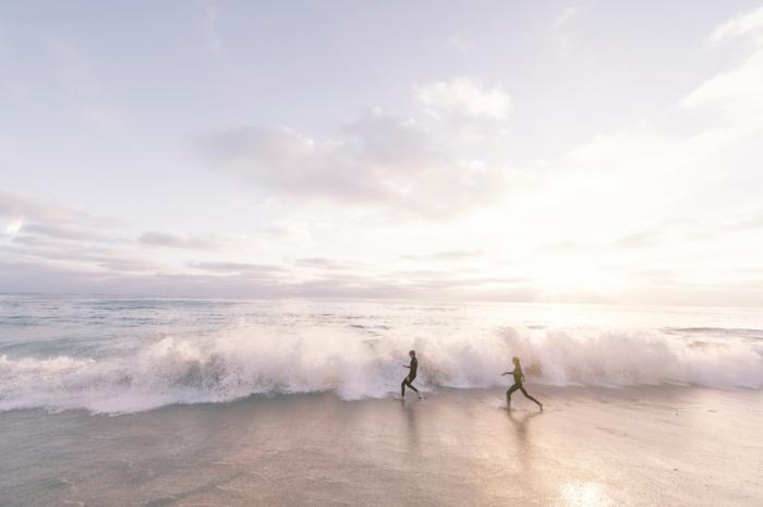 Chouette couple romantique image couple amoureux photos onde surf