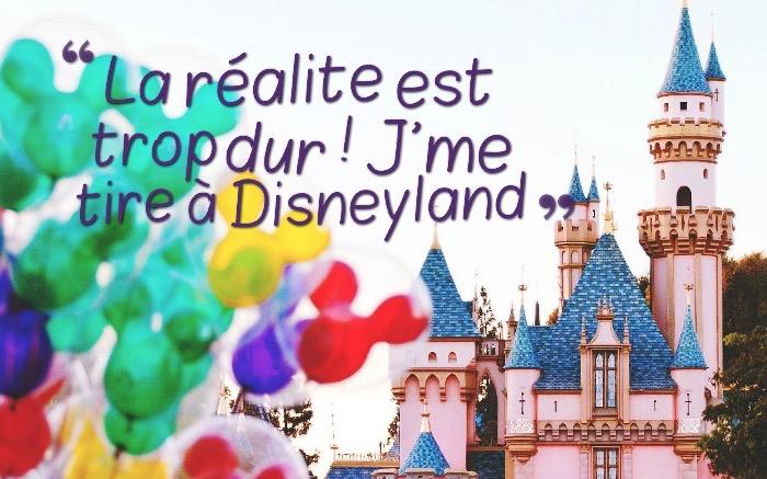 image humoristique, photo à design Disneyland avec lettres drôles; art pour s'amuser
