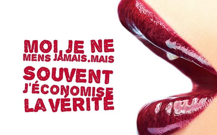 citation humour, fond d'écran aux lèvres féminines et rouges, photo avec citation drole