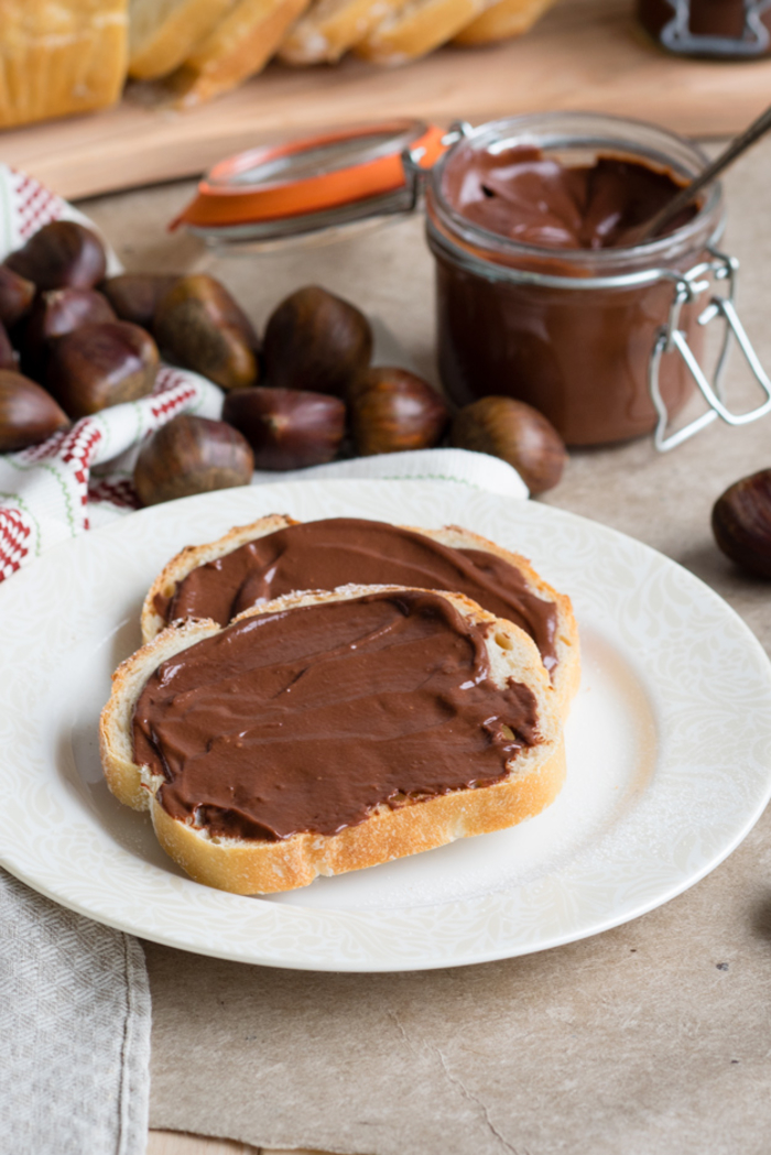 une pâte à tartiner aux marrons et au chocolat comme une alternative saine de nutella, recette marron pour une pâte à tartine faite maison