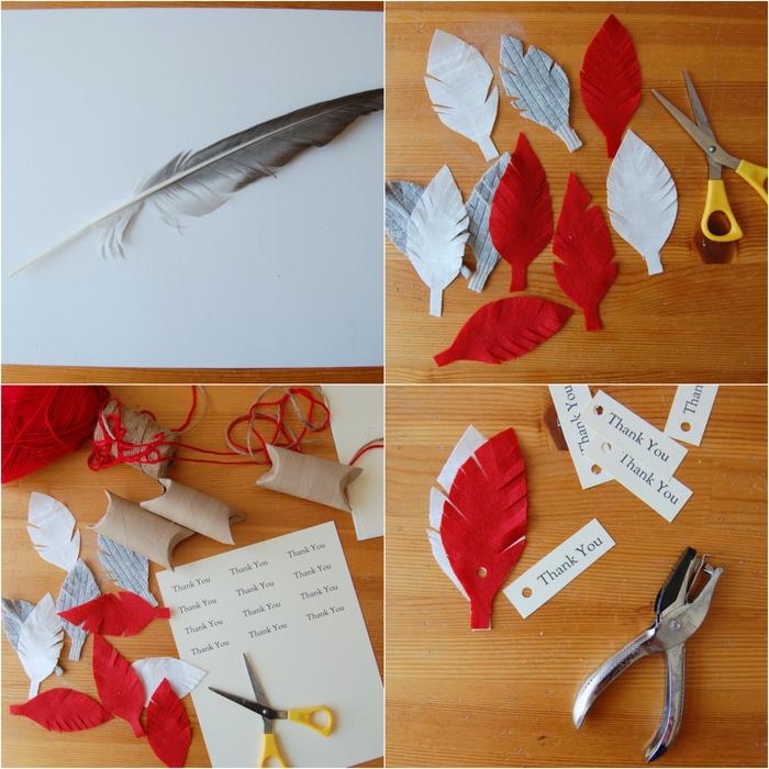 tuto pour réaliser une boîte à cadeaux kraft personnalisée, un bricolage en papier