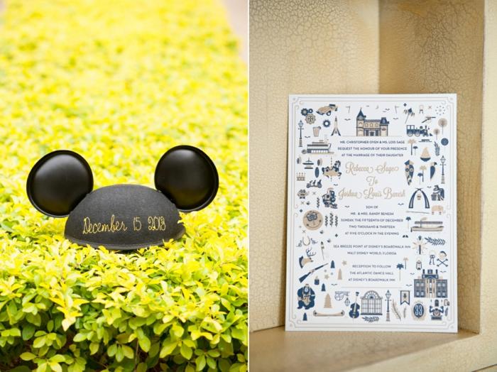 Mickey mouse faire part mariage chic et elegant faire part walt disney idée