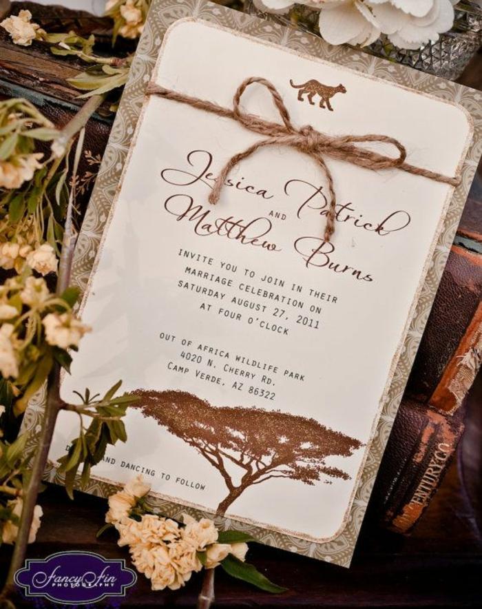 Quel faire part mariage champêtre chateau carton d invitation le roi lion