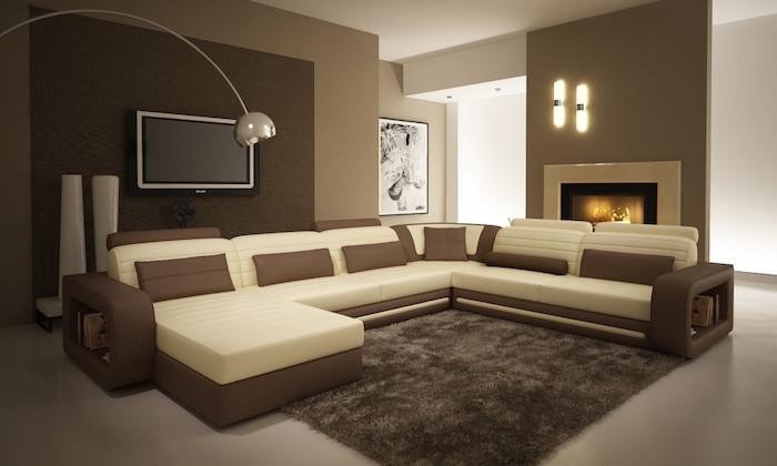 quelle couleur va avec le marron et beige creme canapé mobilier de salon