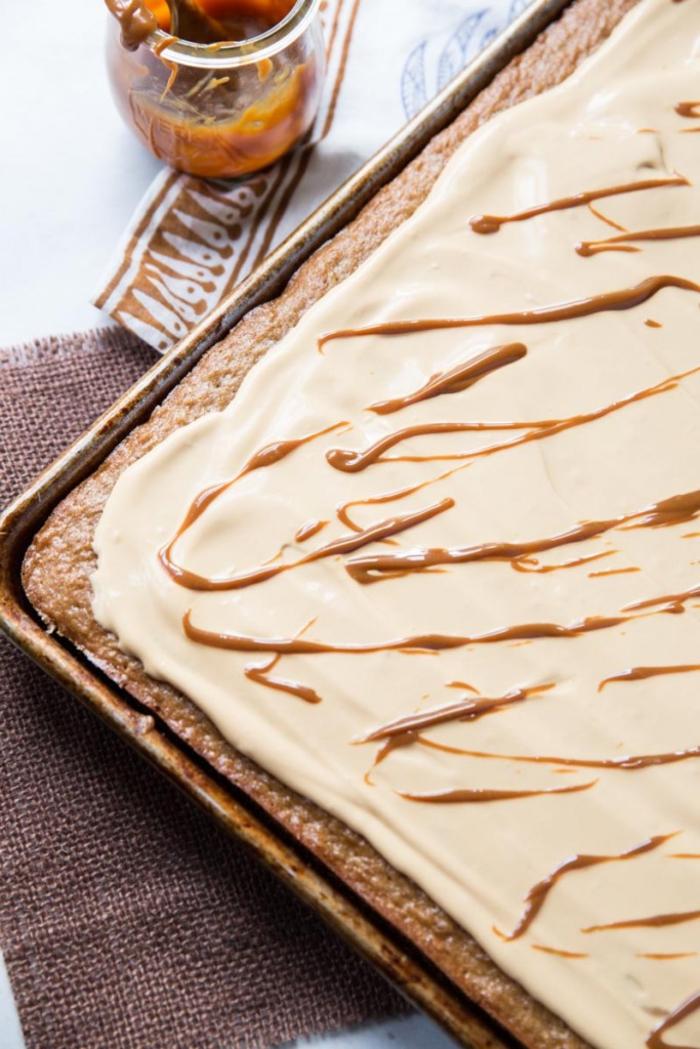 gâteau dulce de leche plat à la crème de marrons, recette avec chataigne