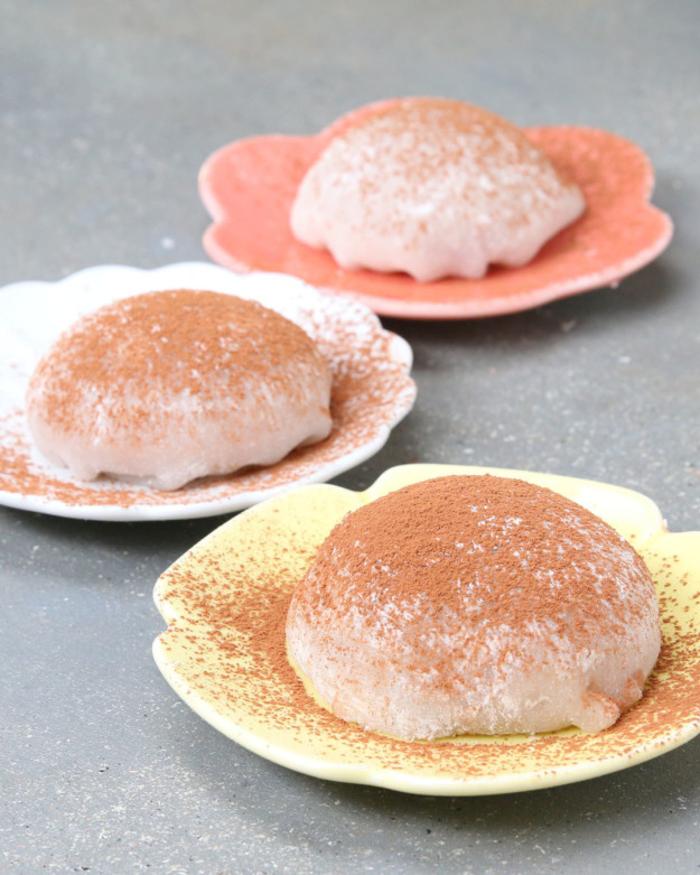 recette de dessert japonais mochi qui intègre la crème de marron, recette avec chataigne originale et exotique