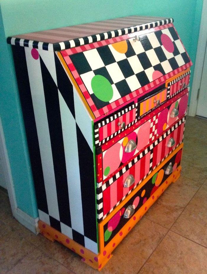 relooking meubles peints anciens repeindre commode couleurs