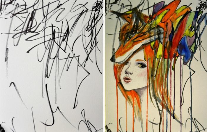 Girl Drawings Il Est Venue Le Temps Pour Un Dessin Fille Voyez