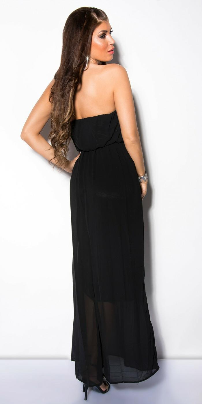 robe été, robe longue d'été, joli modèle, dos nu, robe style casual, cheveux longs