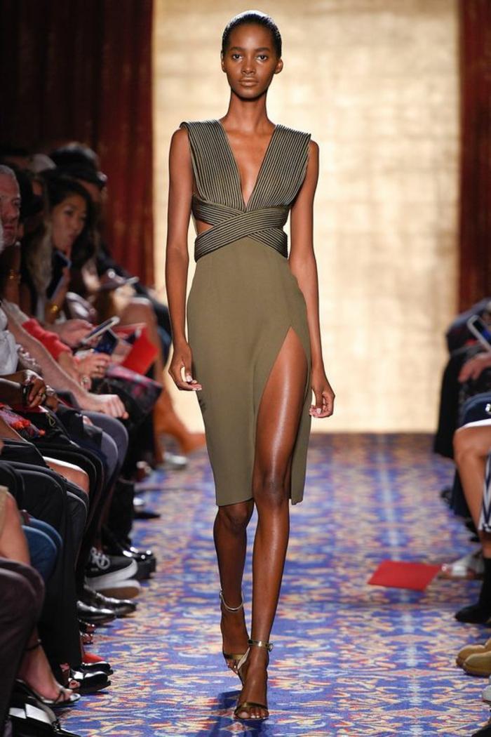 Chouette idée robe saharienne femme street style robe safari