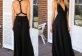 Tenues avec une robe longue noire – inspiration en photos