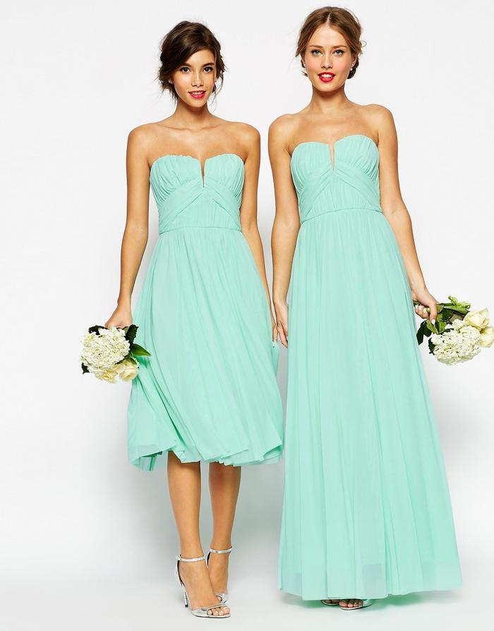 des robes de filles d honneur couleur vert d eau pour un look plein de fraîcheur