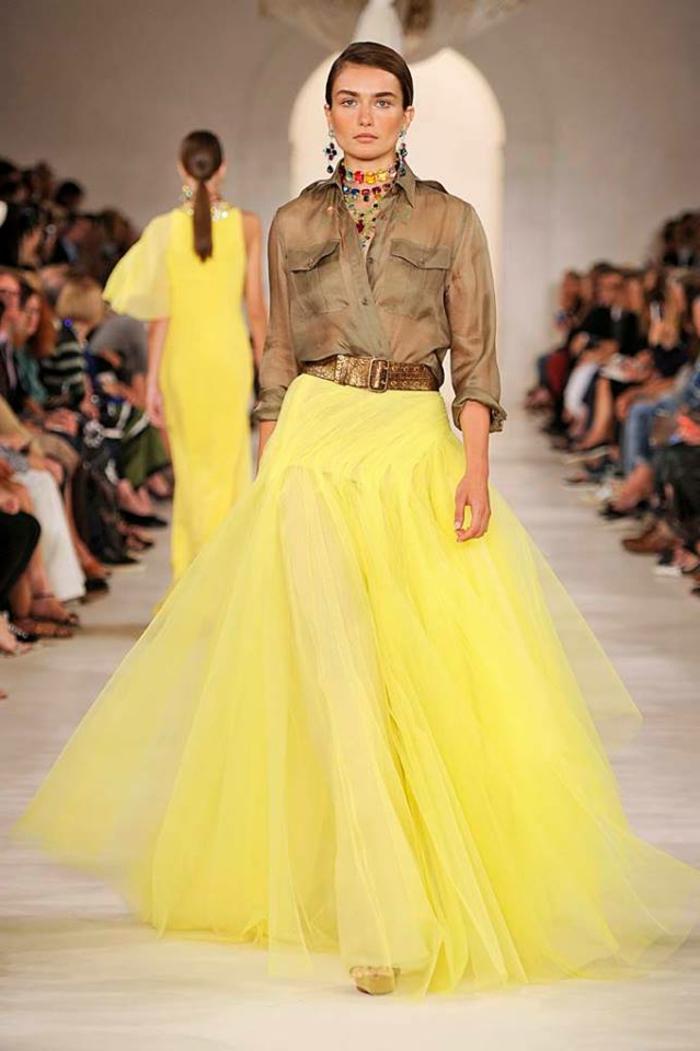 Appearance feminine robe saharienne boutonnée robe col mao jupe princesse jaune idée longue jupe et chemise saharienne mode