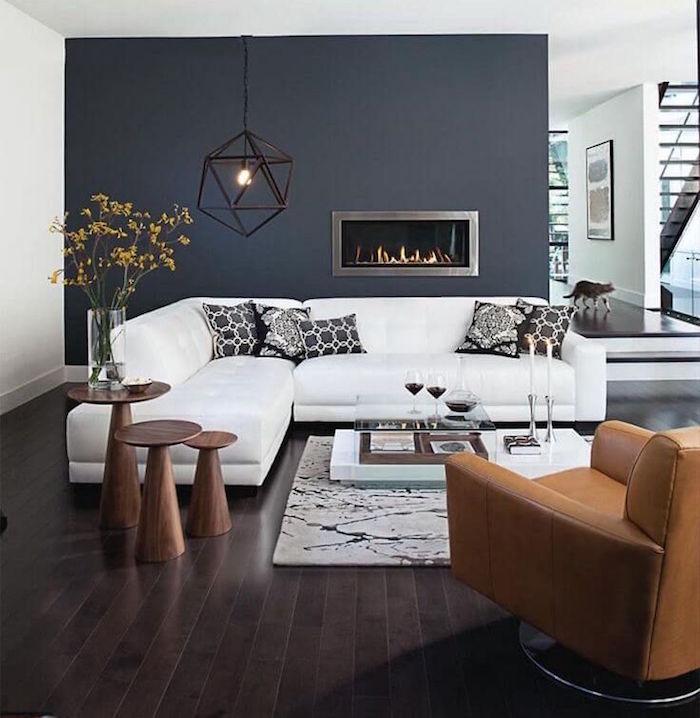 quelle couleur avec le taupe gris foncé pour salon et canapé blanc
