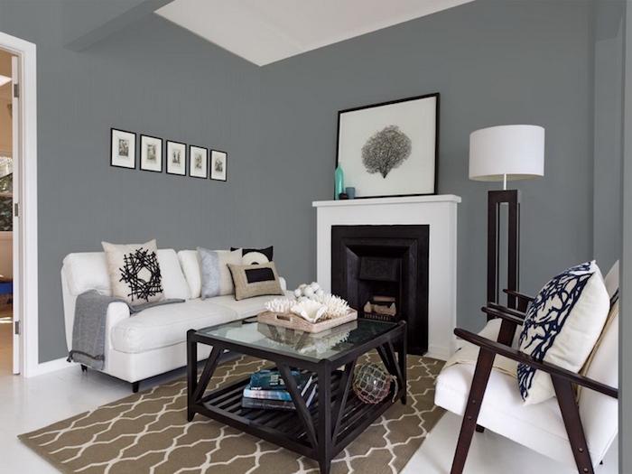 association couleur gris taupe pour salon et blanc