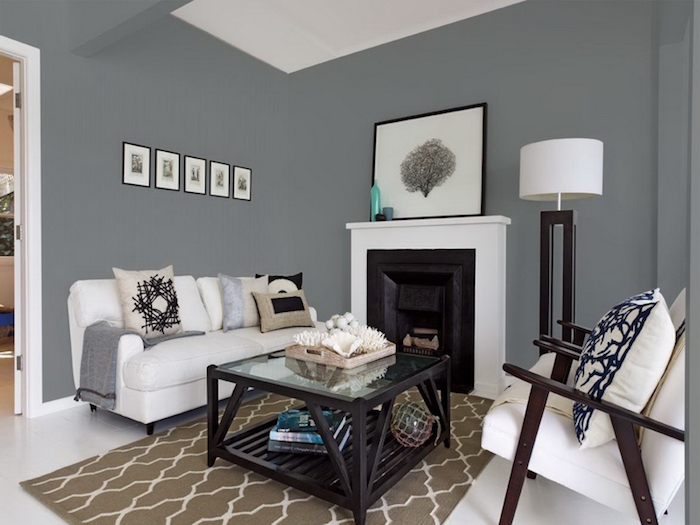 Peinture salon blanc et taupe stunning dco salon gris et for Salon gris et taupe