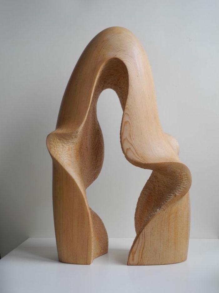 sculptures modernes sculpture moderne bois abstrait oeuvre