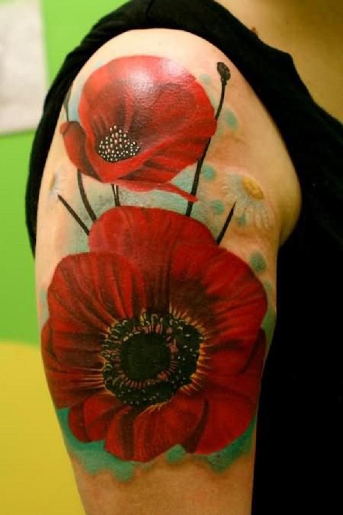 ▷ 1001+ idées | tatouage coquelicot – un champ de 52 modèles en photos