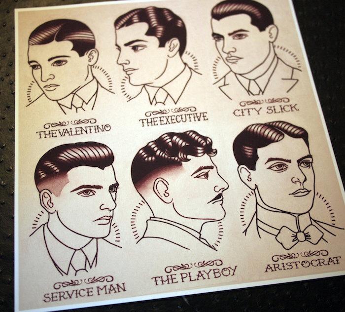 styles de coupes de cheveux homme années 30 20