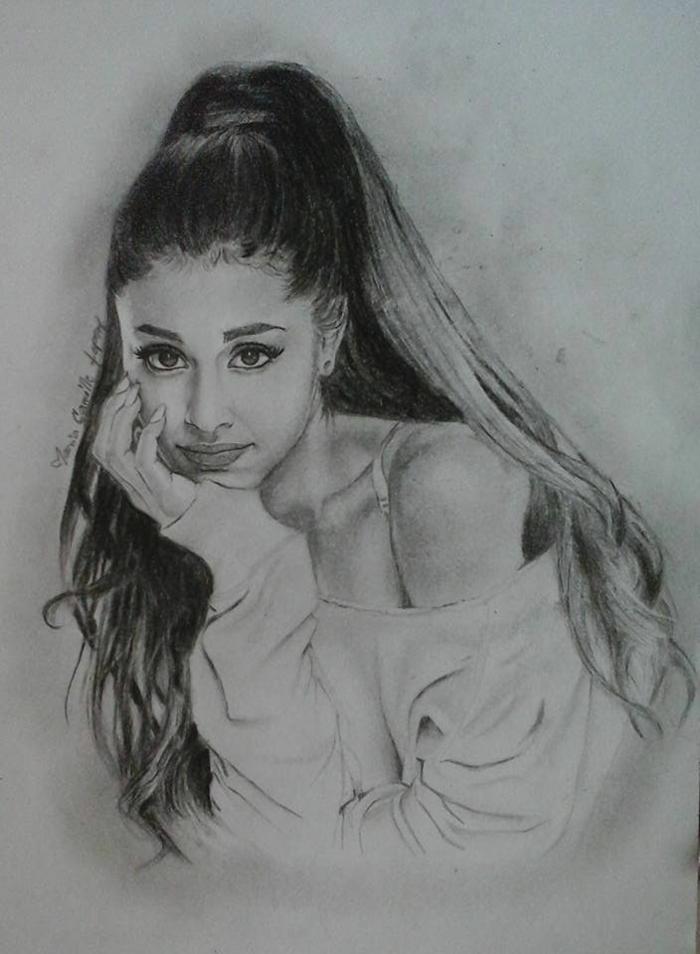 Quell dessin ado fille image dessin de fille manga idée diy dessin Ariana Grande
