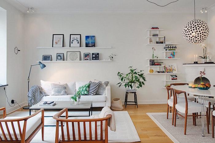meubles nordiques pour salon style suede scandinave minimaliste