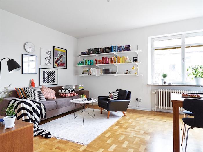 salon scandinave simple et déco suédoise pas cher avec meubles design