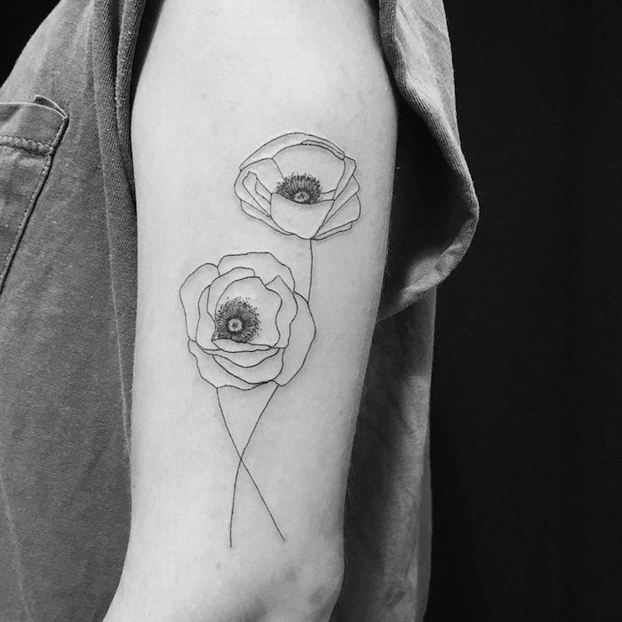 1001 Idees Tatouage Coquelicot Un Champ De 52 Modeles En Photos