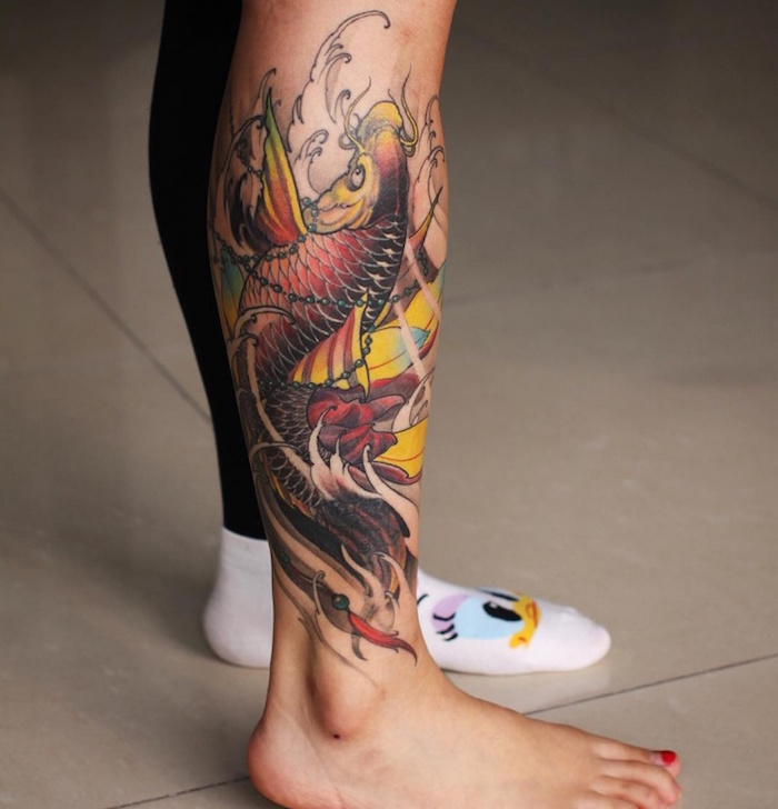 1001 Idees Tatouage Carpe Koi La Force Tranquille En 43 Photos
