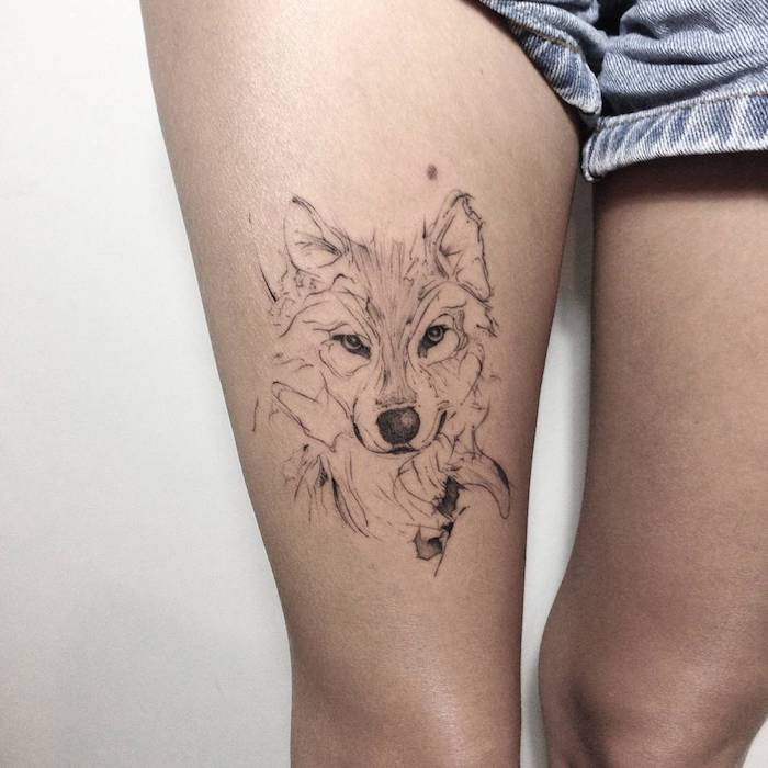 1001 Modeles De Tatouage Loup Pour Femmes Et Hommes