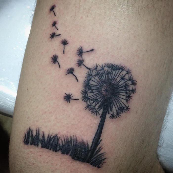 Très ▷ 1001+ idées | Tatouage pissenlit – un tattoo dans le vent IU12