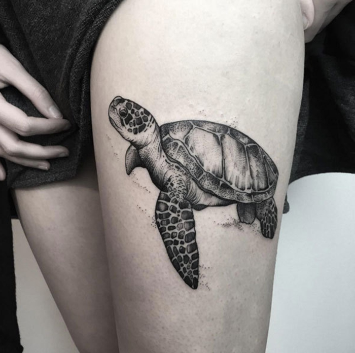 Tortue de mer tatouage - Signification tortue tatouage ...