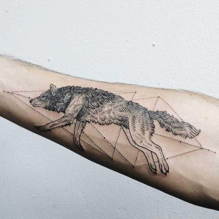 1001 mod les de tatouage loup pour femmes et hommes. Black Bedroom Furniture Sets. Home Design Ideas