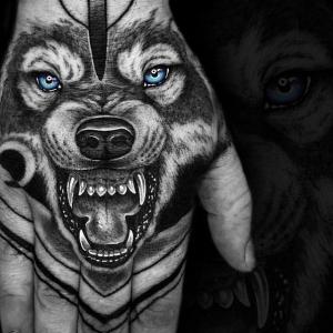 1001 id es magnifiques pour votre tatouage tortue - Tete de loup tatouage ...