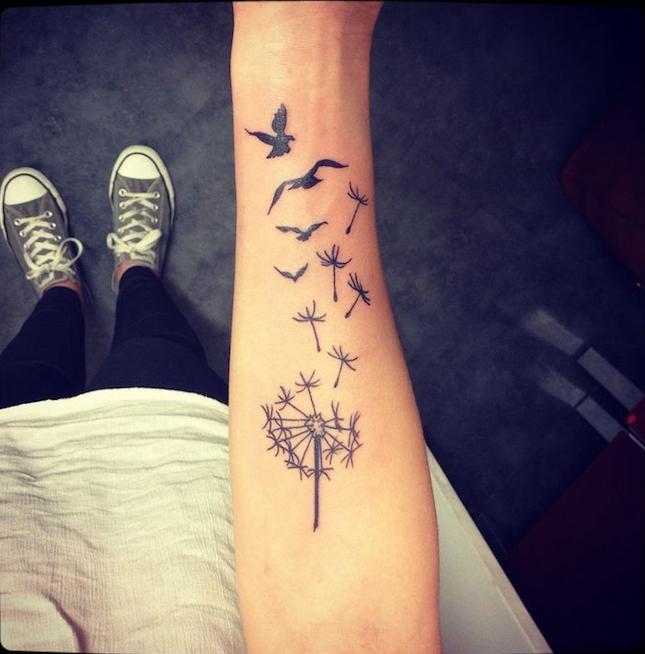 1001 Idees Tatouage Pissenlit Un Tattoo Dans Le Vent
