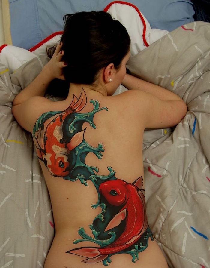1001 Idees Tatouage Carpe Koi La Force Tranquille En 43 Photos