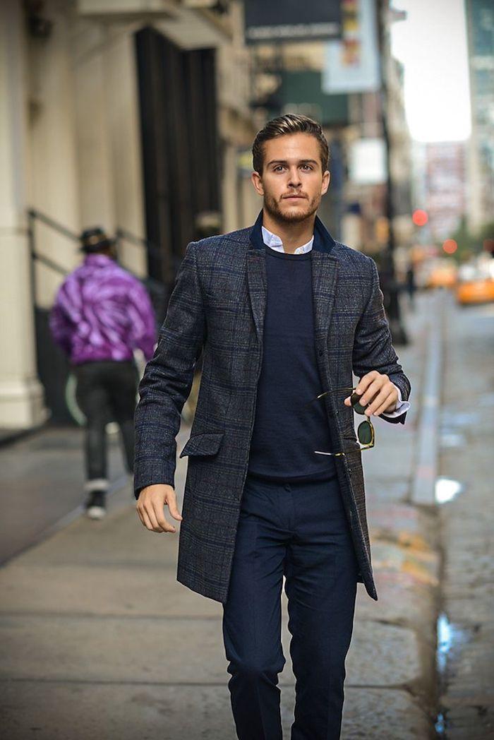 style vestimentaire homme, coupe de cheveux moderne pour homme, tenue professionnel en pantalon et chemise